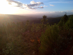 Early sunset view over the Zezere valley