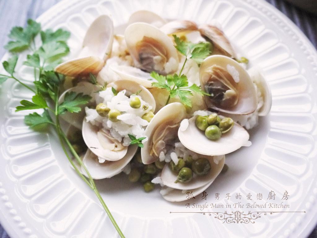 孤身廚房-海瓜子豌豆炊飯。《LE CREUSET鑄鐵鍋飯料理》試做24