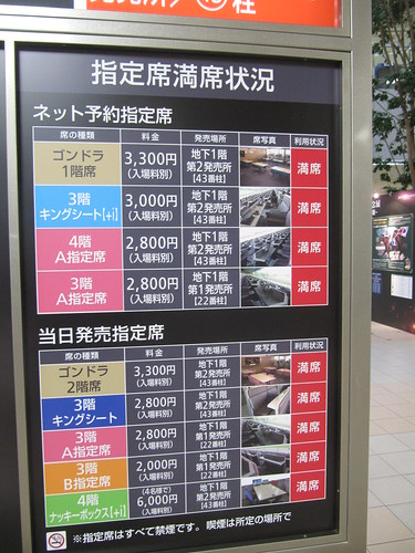 中山競馬場の指定席種類