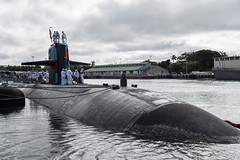 USS Buffalo (SSN 715) sits along the pier after returning to Joint Base Pearl Harbor-Hickam, Dec. 23. (U.S. Navy/MC1 Daniel Hinton)
