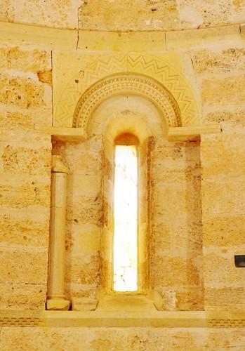 Abajas (Burgos). Iglesia de Nuestra Señora. Ábside. Ventana axial