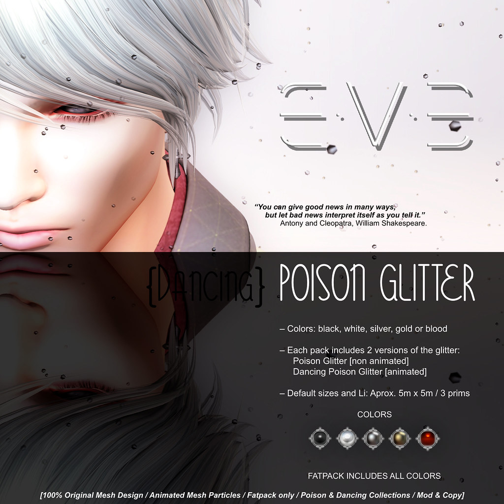 E.V.E Poison Glitter {Colors} - SecondLifeHub.com