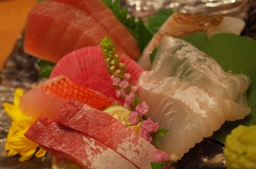 秋の鮮魚5種盛り
