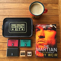 Saturday swag and some science geekiness from this one. #themartian #reading #sunday #singapore
