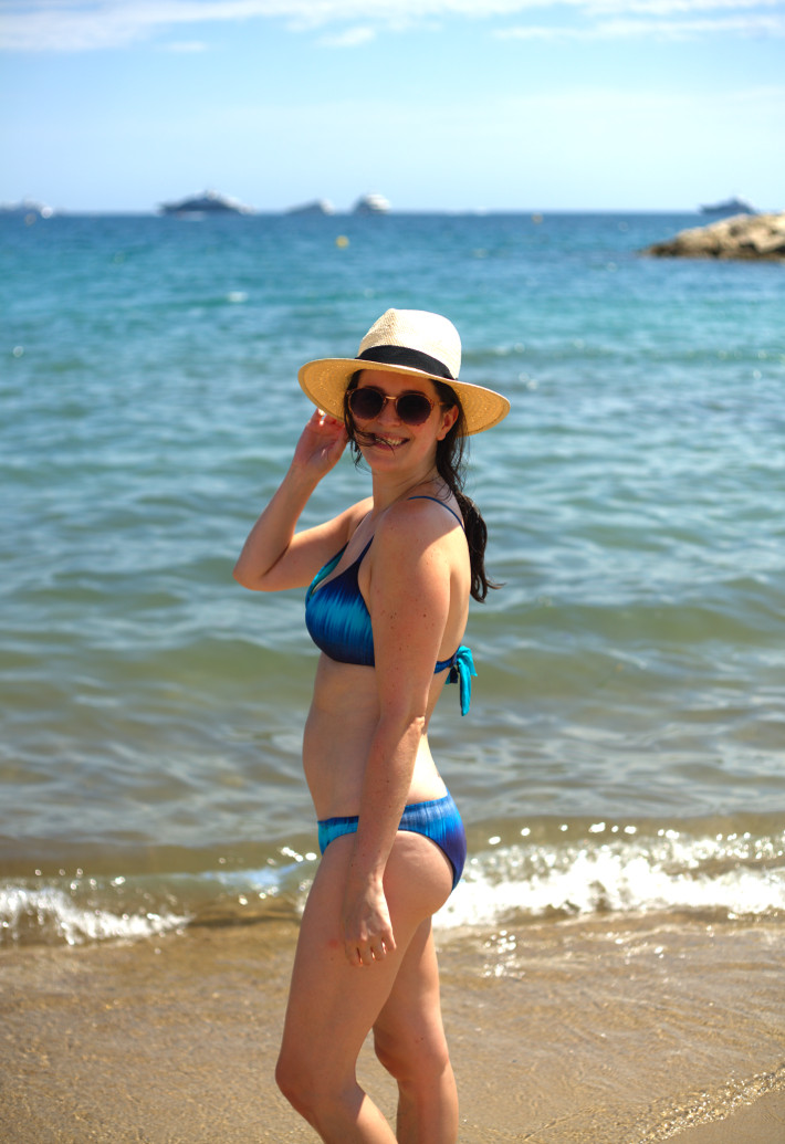 blue ombre Calzedonia bikini