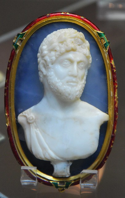 Sardonyx cameo of Hadrian, 2nd century AD, decorative mount of the late 16th century, Cabinet des médailles, Paris