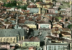 postcard - bolzano - piazza walter dall'alto - 1961