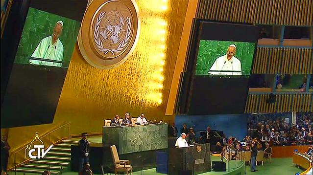 Papa en la ONU USA
