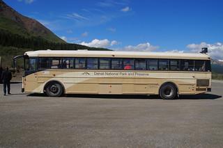 411 Bus bij bezoekerscentrum