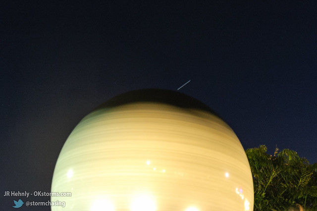 Fri, 11/02/2012 - 19:23 - The day ended with the ISS passing over., visible as the white streak in this time-lapse - November 02, 2012 7:23:47 PM - , (28.5242,-80.6811)