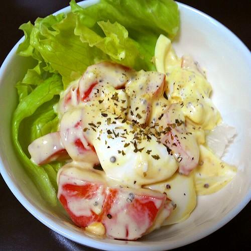 にんじんとゆで卵のシンプルおいしいマヨサラダ