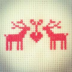 Now two little cuties #crossstitch #christmaspresent #scandi #craft