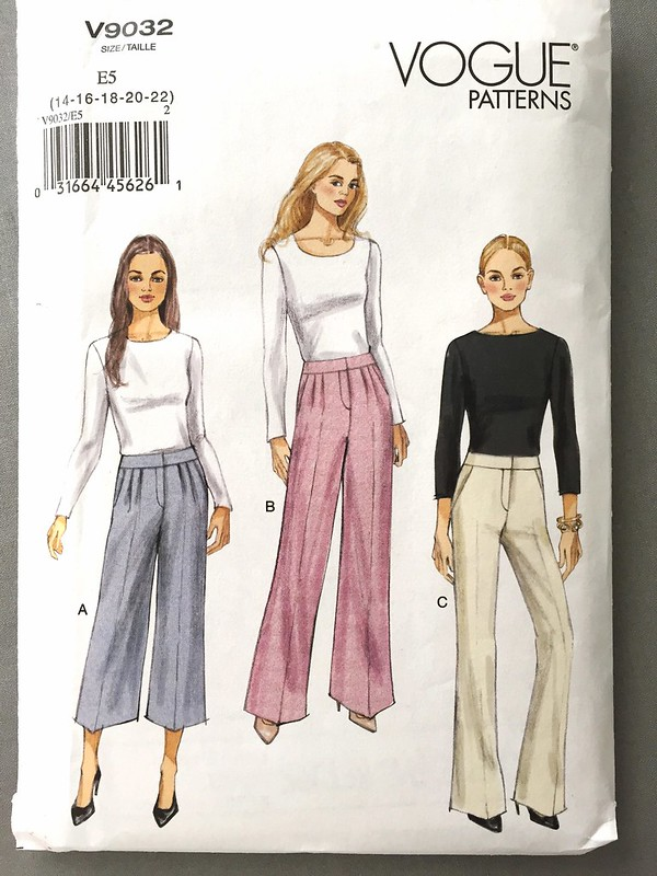 Vogue 9032 pants pattern