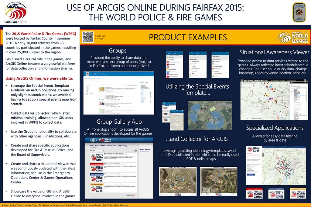 Use of ArcGIS Online During Fairfax 2015: The World Police