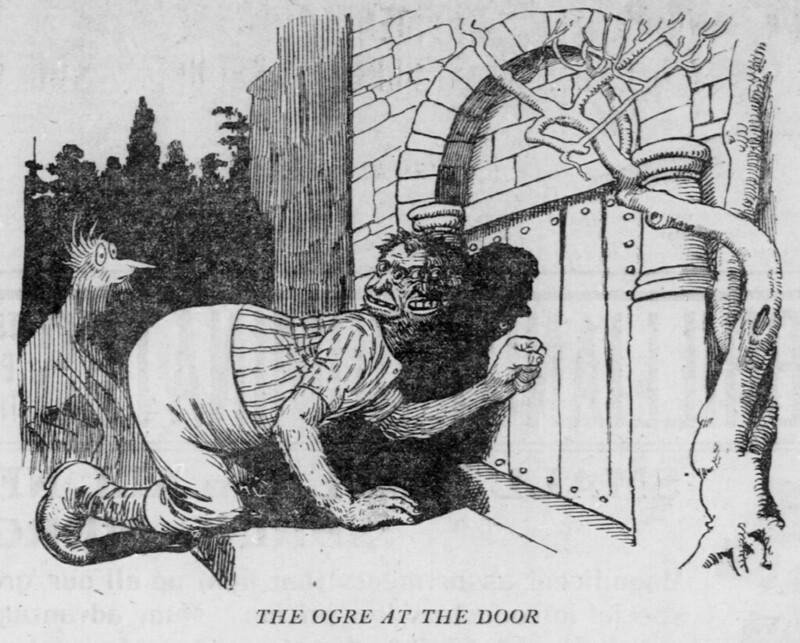 Walt McDougall - The Salt Lake herald., February 26, 1905, The Ogre At The Door