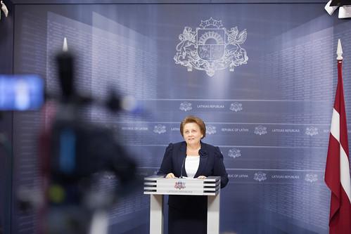 Ministrus prezidentes Laimdota Straujumas preses konference