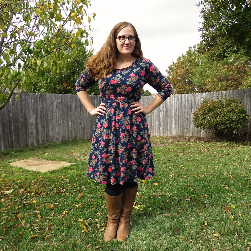 Fall Flowers Dress - After