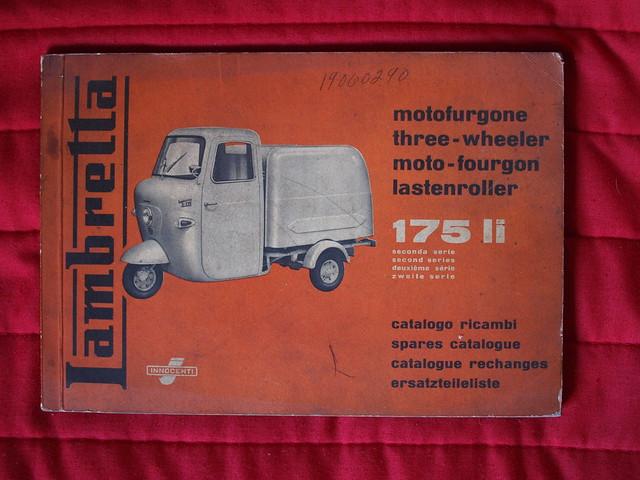 Lambretta motofurgone catalogo ricambi