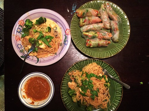 Homemade Pad Thai with Raw Spring Rolls (December 3 2014)