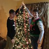 Another of my great joys - having the whole crew together to decorate the tree, and Danny and Chris putting on the Lenox star.