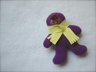 FOOTIE -Purple/Chartreuse: brown