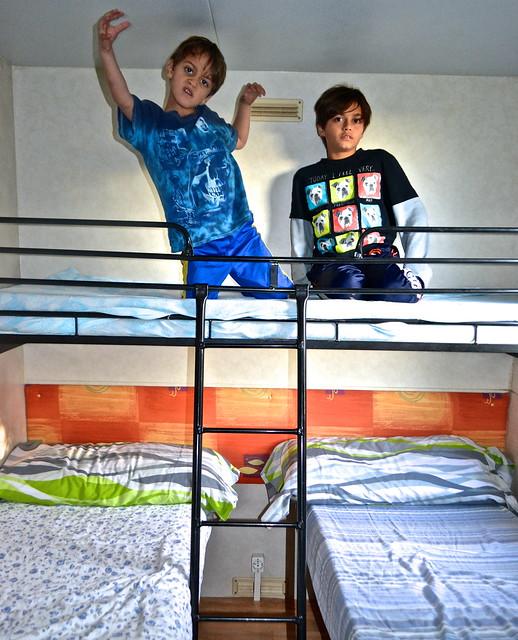 bunk beds, siurana camping
