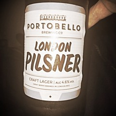 Drinking a London Pilsner by Portobello Brewery