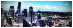 Seattle Cityscape with Mt Rainier in the background