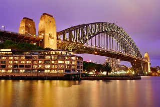 Harbour Bridge & Purple Sky