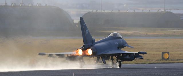 2 Sqn Typhoon performance take off