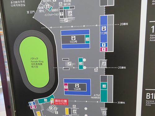 中山競馬場パドックまわりの通路