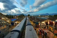 Nagercoil Railway Station, Tamil Nadu, India.