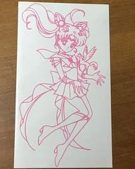 Custom Manga Chibi Moon vinyl decal 5.5 x 9.5