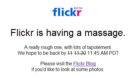 Flickr is having another massage