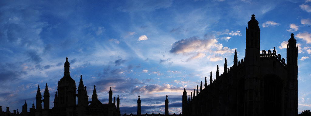 Evening Sky, Kings College Cambridge