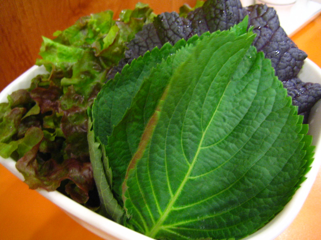 サンチュ、エゴマの葉