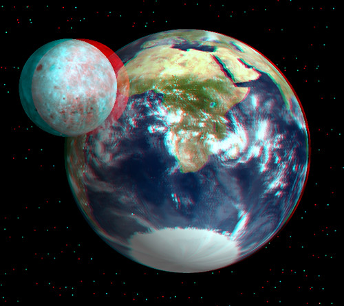 3d earth 39 s moon pics about space for Space in 3d