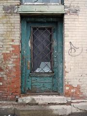 Green Door, White Brick