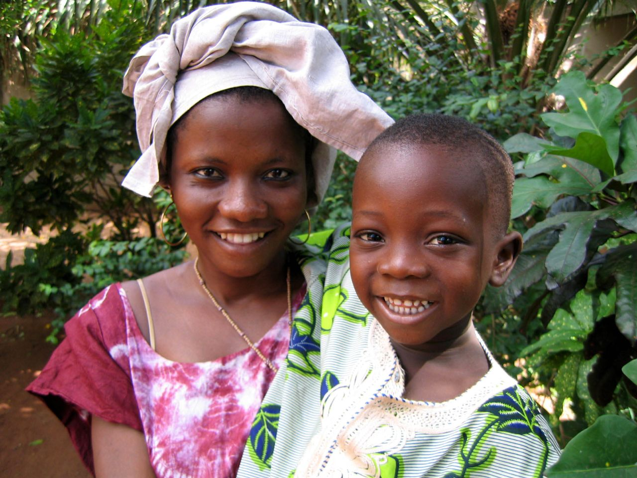 Mother and child in Lome Togo Africa.