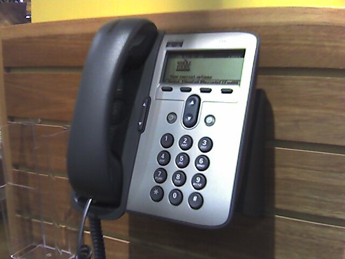 VoIP phone at WFM