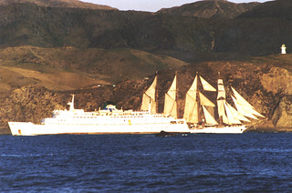 Steam and sail, Wellington Harbour, 1981
