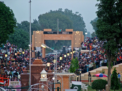End of Wagah Ceremony (Indian Side)