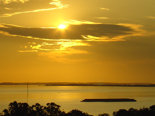 A beautiful golden sunset in Paraguay
