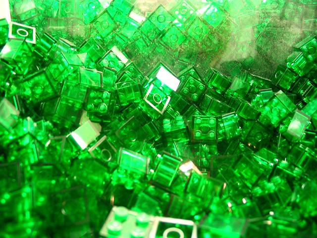 Green Plastic Bricks