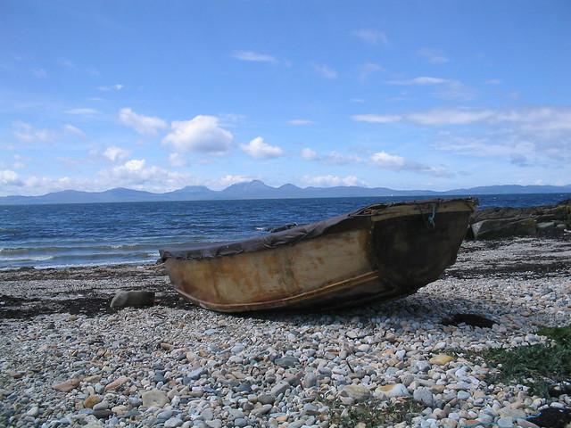 boat on kilberry beach