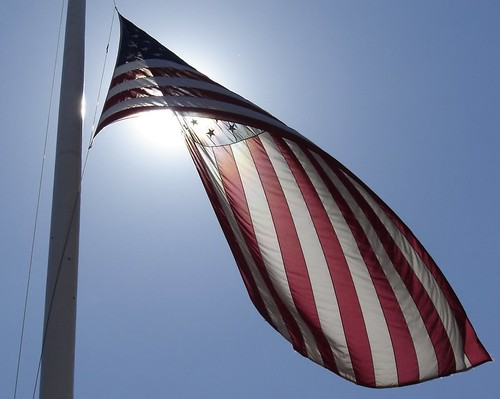 flag outside drl