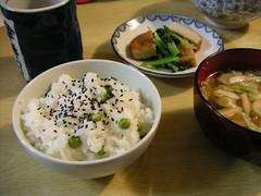 Pea rice / グリンピースご飯