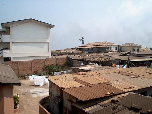 Tin and asbestos rooftops of Jamestown