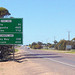 The junction of the Eyre and Flinders Highways.