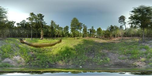autostitch panorama geotagged stream pano bank 360 columbia sphere restoration wetland mitigation equirectangular 180x360 geolat33946357281718 geolon8107043366971
